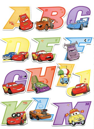 Fun and Funky Cars 3D Alphabet Stickers - Cars:The Movie