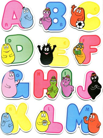 Barbapapa 3D Alphabet Stickers - Barbapapa