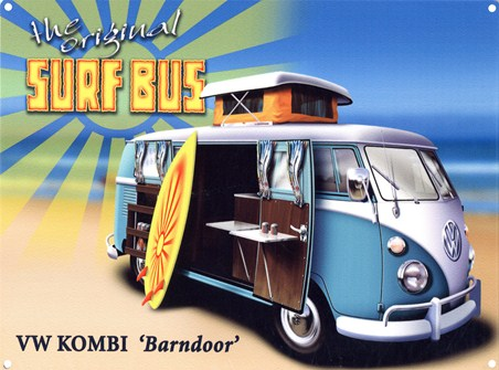 The Original Surf Bus - VW Kombi 'Barndoor'