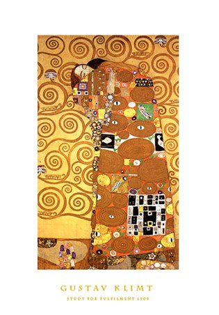 Study for Fulfillment 1909, Gustav Klimt Print