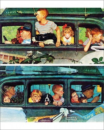 Coming and Going - Norman Rockwell