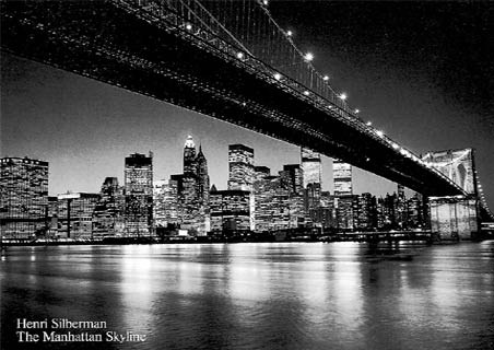Manhattan Skyline, New York City - Henri Silberman