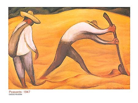 Peasants, 1947 - Diego Rivera