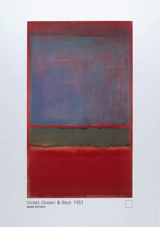 Violet, Green and Red, 1951 - Mark Rothko