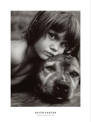 Young Girl With Dog - Keith Carter