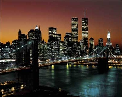 Brooklyn Bridge Lights - New York City, USA