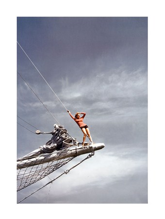 Woman on Jib Boom, 1940 - Toni Frissell