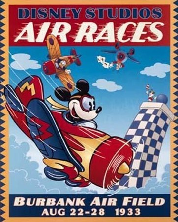 Ace Pilot Mickey Mouse - Disney Studio's Air Races 1933