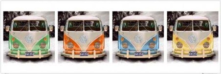 California Camper Vans - Volkswagen Pop Art