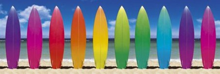 Surfing the Rainbow! - Technicolour Surf Boards