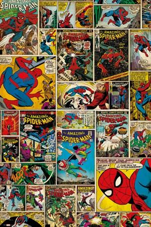 The Amazing Spider Man Comic Collage Marvel Comics Popartuk