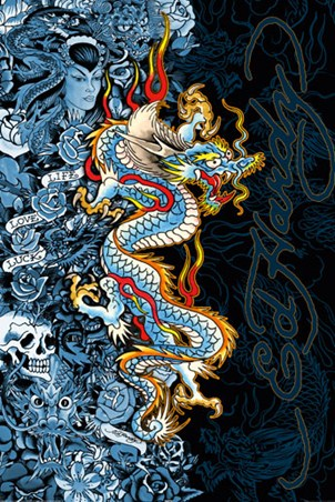 Blue Dragon - Ed Hardy