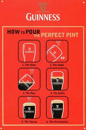 How to Pour the Perfect Pint - Guinness