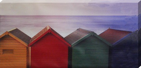 Beach Huts at Whitby - Peter Adams