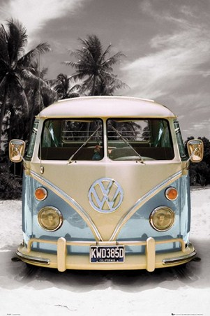 Californian Camper Van - VW on the Beach