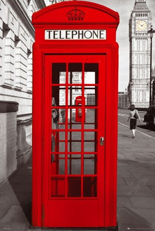 Red Telephone Box - English Iconography