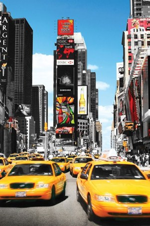 Yellow Cabs in Manhattan - New York