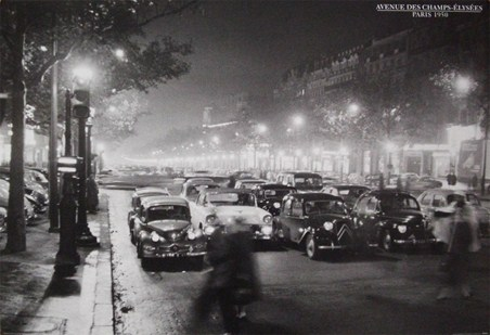 Avenue des Champs-Elysees - Paris 1950