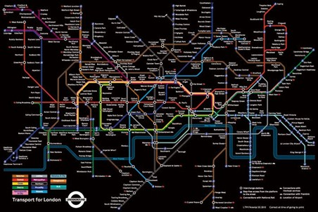 London Underground Map - Spectacular Underground Structure