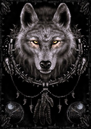 Wolf Dreams Spiral Poster