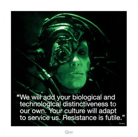 Resistance is futile star trek popartuk - We are the borg quote ...