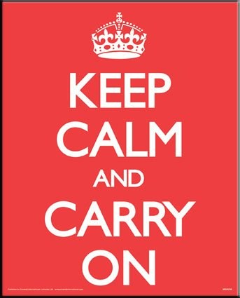Keep Calm and Carry On - Classic British Motivation