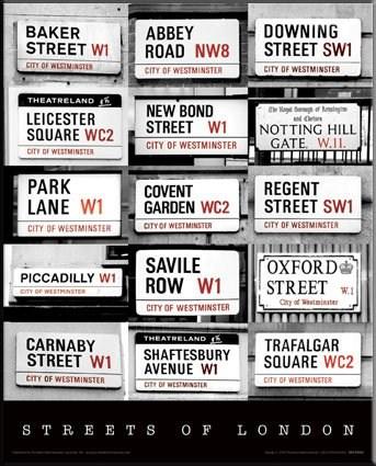 Street Signs of London - London, England