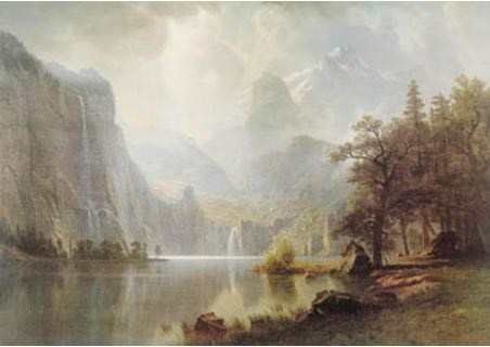In the Mountains - Albert Bierstadt