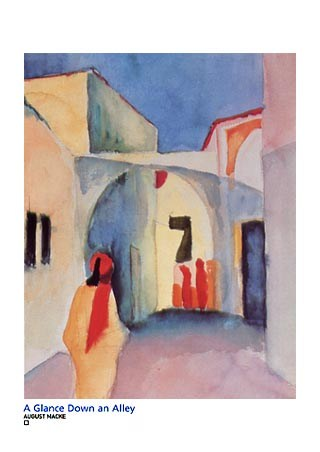 A Glance Down an Alley in Tunis - Auguste Macke