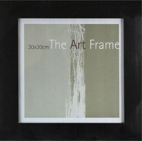 30x30cm Thick Black Poster Frame - Suitable for Art Prints