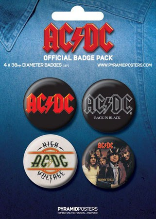 AC/DC - AC/DC Button Badge Pack