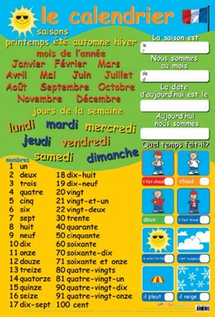 le calendrier french calendar for children poster   buy
