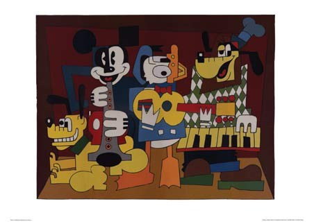 Micasso, A play on Picasso's Musicians - Walt Disney
