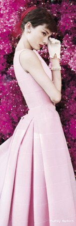 An Icon In Pink - Audrey Hepburn