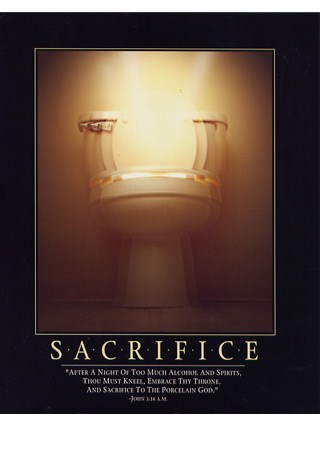 Sacrifice to the Toilet - Porcelain God