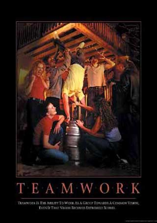 Teamwork Tin Signs, Posters & Cards - Buy Online at PopArtUK.com