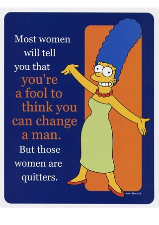 Marge Simpson, Change Your Man - The Simpsons
