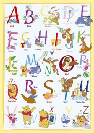Alphabet Fun With Winnie The Pooh - Winne the Pooh and Friends
