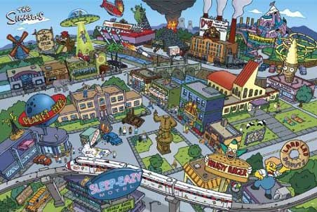 Springfield Town - The Simpsons