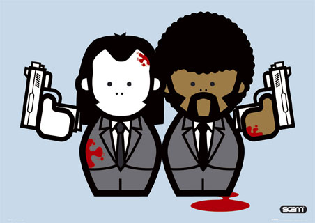 Jules and Vincent Cartoon - Pulp Fiction