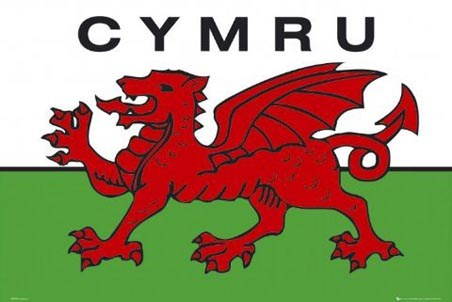 Welsh National Flag (Cymru) - Flag of the Country of Wales