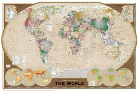 The World Sophisticated World Map Poster Buy Online