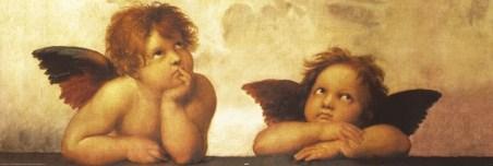 Cherubs (detail from Sistine Madonna) - Raffaello Sanzio Raphael