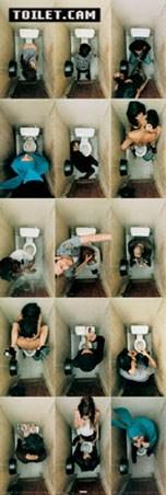 Fifteen Scenarios in a Toilet - Toilet Cam