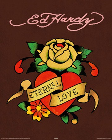 eternal love by ed hardy poster buy online. Black Bedroom Furniture Sets. Home Design Ideas
