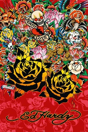 Black Rose - Ed Hardy