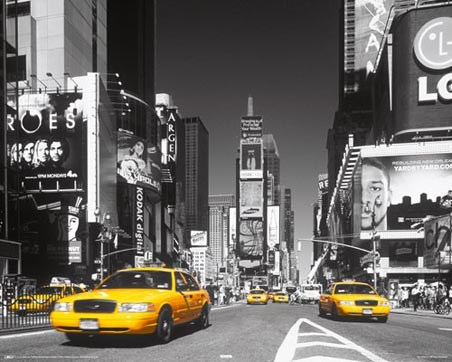 new york city taxi times square popartuk. Black Bedroom Furniture Sets. Home Design Ideas