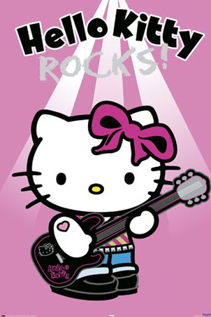 Rocking out! - Hello Kitty
