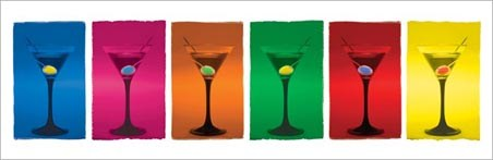 Martini Glasses - Pop Art Style Glasses