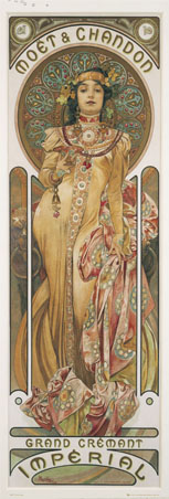 Moet & Chandon - By Alphonse Marie Mucha